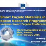 Smart Facade Materials conference (Feb2016)